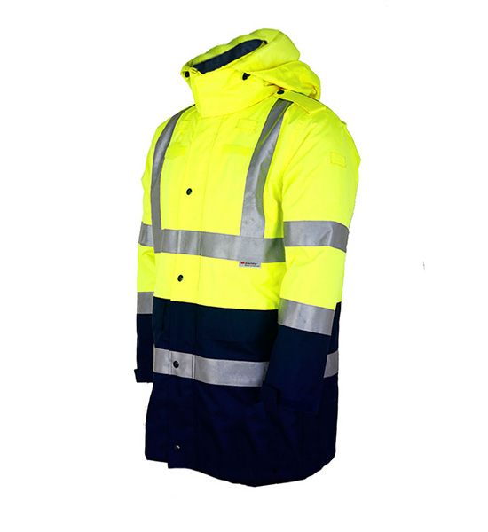 Black Bottom Hi Vis Winter Coat